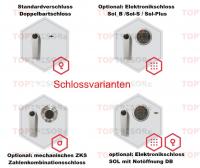 Verschlussvarianten Sicherheitstüre Wismar bauartähnlich WK5
