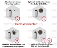 Verschlussvarianten Tresortüre Eisenach Stufe B und S2 EN 14450