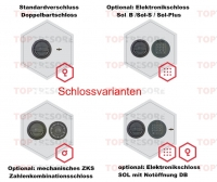 Verschlussvarianten Pistolenschrank Klasse N/0 Emmerich-Goch