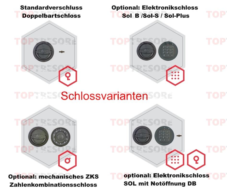 1576b710c44e82 Osnabrück-Bramsche 59301 Kurzwaffentresor mit Klasse I Schutz